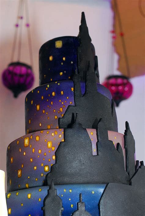 disney tangled lantern wedding cake disney  day