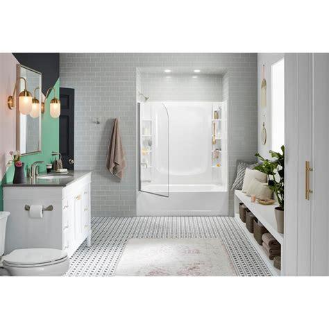 bathtub wall set sterling 5 ft left drain rectangular alcove