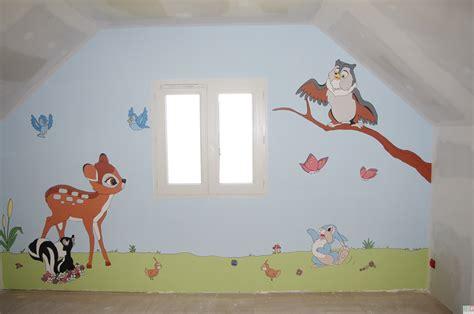 chambre bebe winnie peinture murale