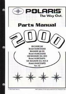 2000 Polaris Magnum 500 4 U00d74 Parts Manual