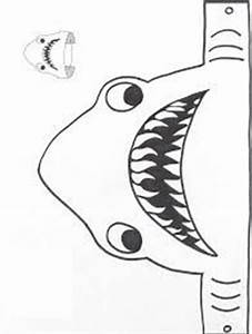 feed the shark template under the sea pinterest With shark hat craft template