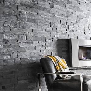 Pierre Blanche Leroy Merlin : plaquette de parement pierre naturelle noir elegance leroy merlin ~ Melissatoandfro.com Idées de Décoration