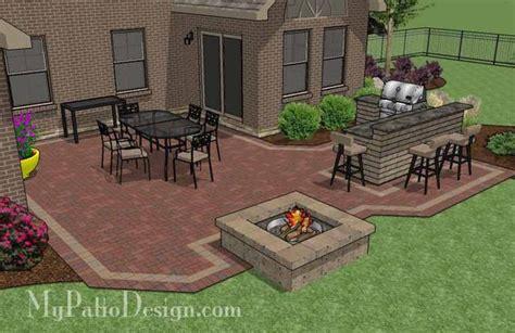 kitchen courtyard designs large courtyard brick patio design with outdoor kitchen 1029