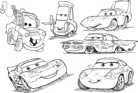 cars characters coloring kolorowanki z bajki auta cars dla dzieci do wydruku