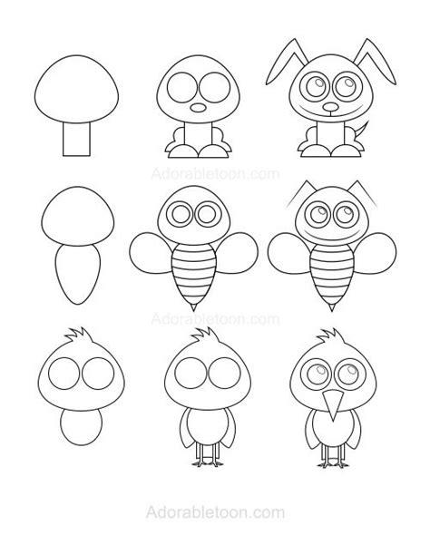 tiere malen leicht die besten 25 zeichnen ideen auf zeichnen tiere zum