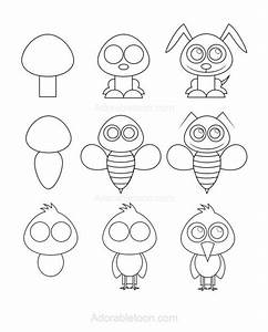 Einfache Bilder Malen : die besten 25 cartoon zeichnen ideen auf pinterest cartoons zeichnen cartoon tiere zum ~ Eleganceandgraceweddings.com Haus und Dekorationen