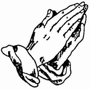Pictures Of Praying Hands With Rosary - Cliparts.co