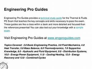 Must Have References For The Thermal And Fluids Pe Exam