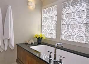 Modern Bathroom Window Treatments Ideas