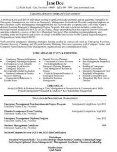 emergency resume objective emergency management resume template premium resume sles exle