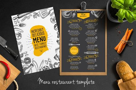 menu card design templates food menu template for restaurant creative and modern