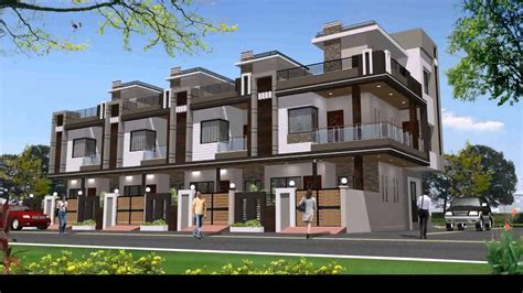 modern house designs and floor plans row house elevation design