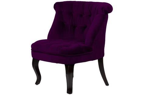 fauteuil crapaud capitonn 233 en velours prune achat