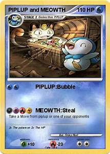 Pokémon PIPLUP and MEOWTH - PIPLUP:Bubble - My Pokemon Card