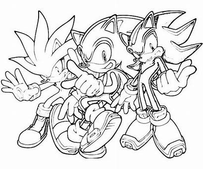 Sonic Coloring Pages Friends Printable