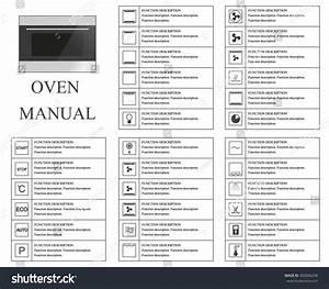 Oven Manual Symbols Instructions Signs Symbols Stock