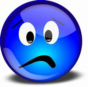 Free vector graphic: Smiley, Worried, Unhappy, Blue Free Image on Pixabay 150548