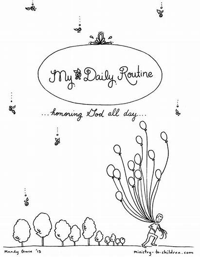 Coloring Children Printable Routine Daily Ministry Pages