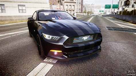 Ford Mustang Gt 2015 Fbi Unmarked [els] For Gta 4