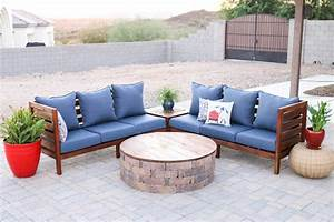 diy outdoor sectional sofa part 1 how to build the sofa With homemade outdoor sectional sofa