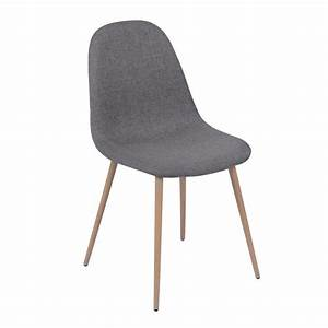 Chaise De Bar Grise : chaise olga grise lot de 2 koya design ~ Voncanada.com Idées de Décoration