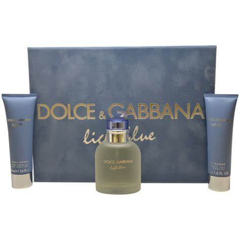 dolce light blue mens light blue by dolce gabbana 3 pc gift set for men om