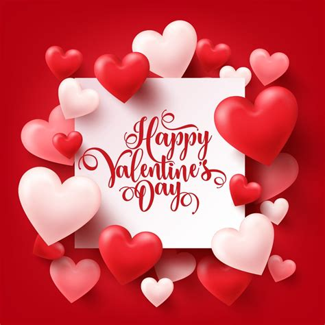 valentines day poster vector graphic  vector
