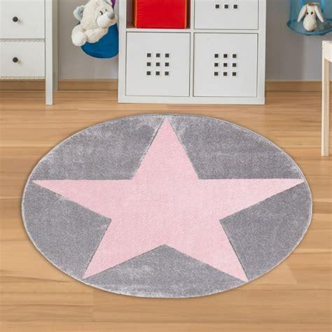 runder teppich grau runder teppich mit grau rosa teppich4kids
