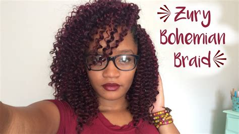 zury bohemian braid crochet braids  hairstyles youtube