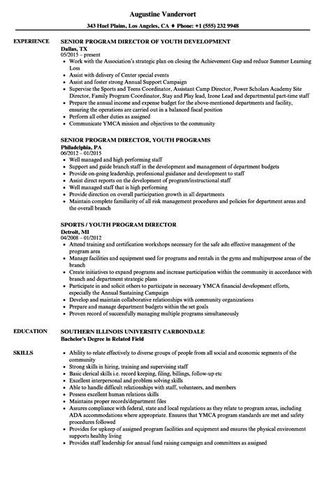 Program Director Resume by Program Director Resume Resume Ideas