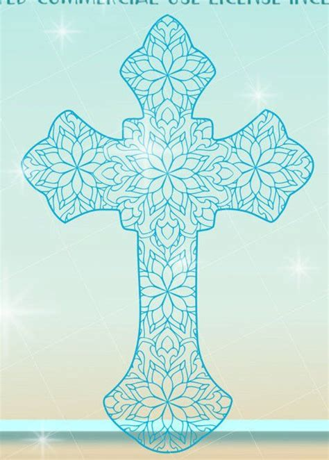 For example, use card stock and foam adhesive dots and display in a shadow box or use multiple sheets. Mandala Cross Svg Free - Layered SVG Cut File