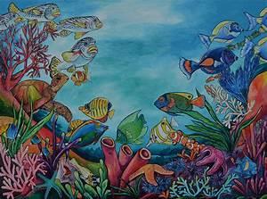 Coral Reef Painting by Patti Schermerhorn