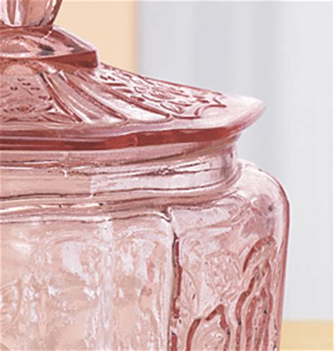 Pink Kitchen Jars by Pink Glass Biscuit Jar Kitchen Kimball