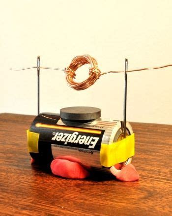 Electric Motor Experiment how to make a simple electric motor science experiments