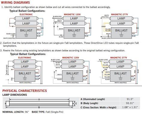 Rewiring Emergency Ballast Wiring Diagram by Keystone Kt Led36t8 96p 840 D 36w 120 277v 4000k 3800