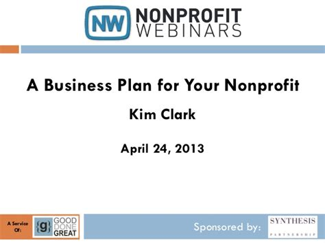 A Business Plan For Your Nonprofit