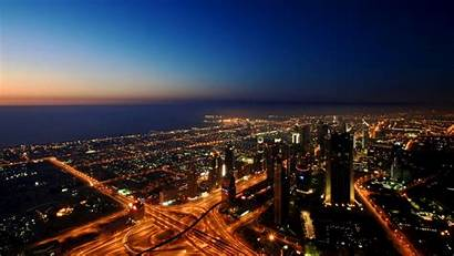 Dubai 4k Ultra Background Uae Lights Roads