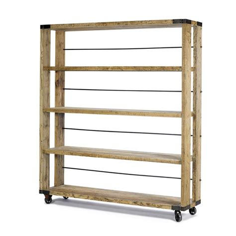 industrial bookcase on wheels industrial bookcase on wheels products i love pinterest