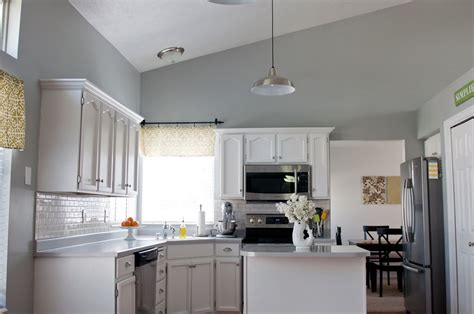 grey paint colors for kitchen sherwin williams argos gray walls cabinets painted white 6965