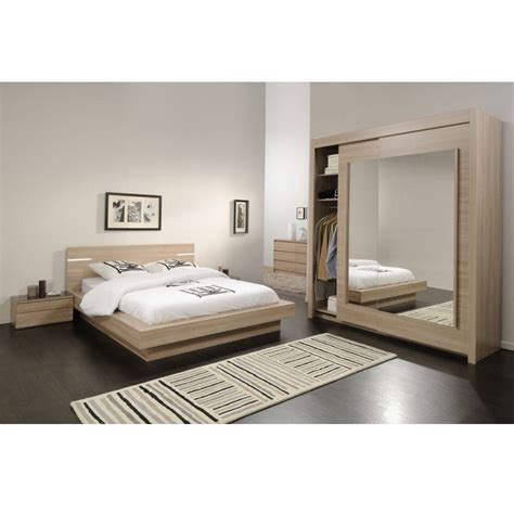 chambre a coucher complet affordable chambre coucher bois italien dimension