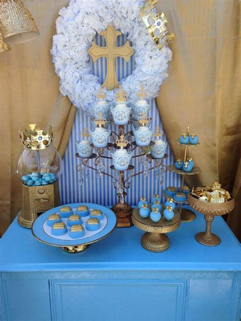 blue christening decorations 25 best ideas about baptism centerpieces on
