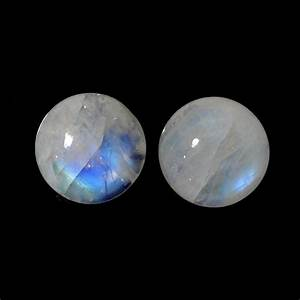 RAINBOW MOONSTONE CABS ROUND 15MM MATCHED PAIR ...