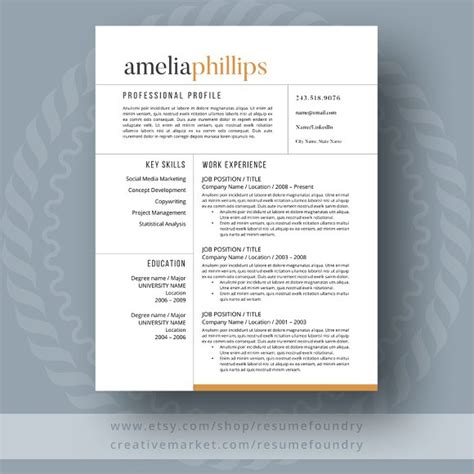 20227 contemporary resume templates free modern resume template resume templates creative market