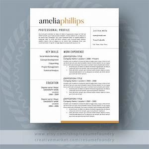 Modern Resume Template Resume Templates on Creative Market