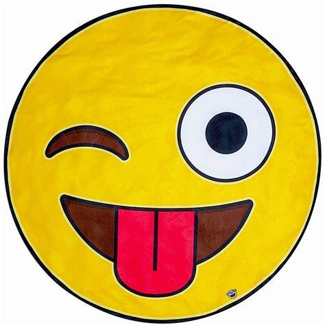 aide en cuisine baignade serviette de plage géante emoji smiley à 29 90