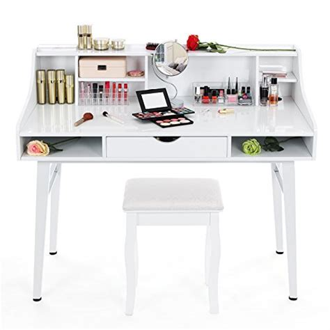bureau coiffeuse songmics bureau informatique coiffeuse table de maquillage