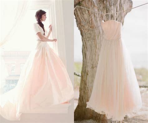 Inspired By Pink Wedding Gowns