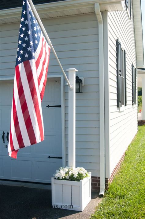 yard flag pole flag pole planter inbetweenchaos diy projects 1204
