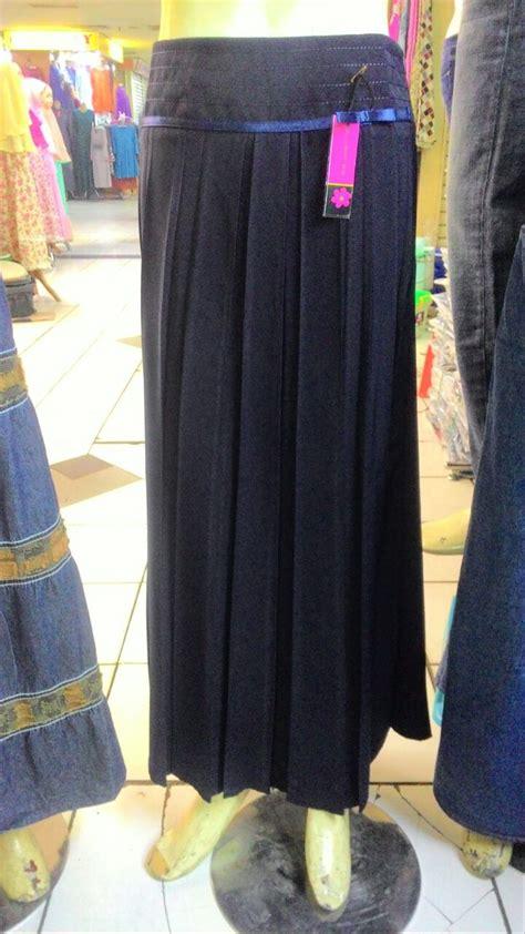 jual rok kerja wanita muslimah plisket bahan ferrari