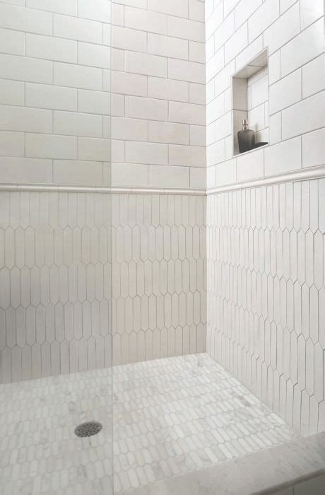 hudson white picket wood  tile bathroom bathrooms